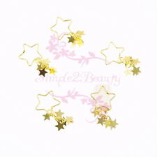 10 Large Hollow Out Star Dangle Style Charms Nail Art Jewelry 3D DIY Decorations