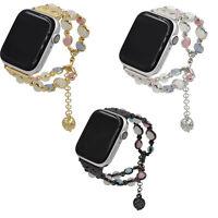 Damen Achat Perlen Armband Band für Apple Watch Iwatch 4/3/2/1 42/38mm Perfekt