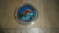 PALAU 2003 $1 COIN - MERMAID - STAR FISH - MARINE LIFE COLORIZED OBV