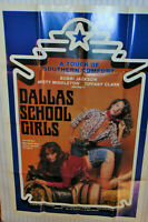 "VINTAGE 'DALLAS SCHOOL GIRLS' 1981 MOVIE POSTER! ADULT X-RATED! 27x40"" TARA AIRE"