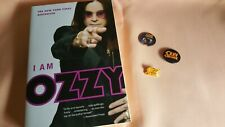 Vintage Ozzy Osbourne Rock Button Pin Lot (3) - w/Book, I Am Ozzy!