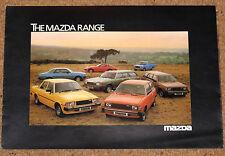1980 MAZDA RANGE Sales Brochure - RX7 Montrose Coupe Hatchback Stretchback B1800