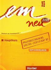 Hueber EM NEU 2008 Hauptkurs PRUFUNGSTRAINING Kopiervorlagen Niveau B2 +CD @New@