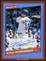 2020 Panini Donruss Retro 1986 Signatures Kyle Schwarber #86S-KS Auto