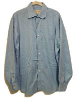 Tommy Bahama Mens Sz 16 34/35  Blue Long Sleeve Button Front Shirt