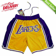 Los Angeles Lakers Vintage Gold Retro Just Don Summer League Basketball Shorts
