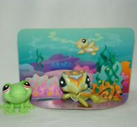 Littlest Pet Shop Fanciest Sea Turtle 1836 & Frog 898 Lot #25