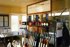 PHOTO  1997 TEMPLECOMBE SIGNAL BOX THE LEVER FRAME & BLOCK INSTRUMENTS AT TEMPLE
