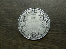 1917 King George V Silver Half Dollar Canada 50 Cent