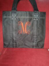 Monogrammed Heavy Duty Reusable Shopping Tote With Side Pocket (600D Polyester)