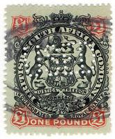 (I.B) Rhodesia/BSAC Revenue : Duty Stamp £1