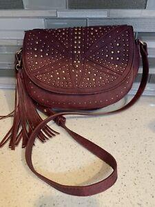 Sasha + Sofi Burgundy Crossbody Bag New Without Tags Tassel Fashion Purse