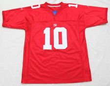 Reebok Jersey Eli Manning New York Giants Red White Stitched 2XL XXL 10 Football