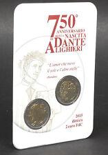 Italien 2015: Coincard 2 Euro Dante Alighieri + Kursmünze, ST
