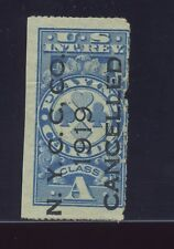 Scott #RF12 Playing Cards Private Roulette Perf 1 Revenue Stamp  (Stock #RF12-1)