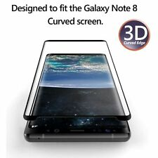 For Galaxy Note 8 Poetic Premium [HD Clear] Tempered Glass Screen Protector BLK