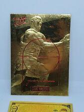 MICHAEL JORDAN 1996-97 Fleer Ultra COURT MASTERS 23KT Gold Card & $100 gold bill