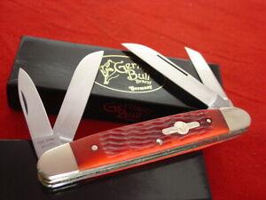"German Bull Germany BIG 5-1/8"" red Bone 4 Blade Congress Knife MIB"