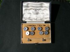 Gents 9ct Gold Cufflinks and Dress Stud Set Boxed by Mappin & Webb