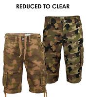 Mens Army Cargo Camo Combat Shorts Jack South Casual Bermuda Cotton Half Pants