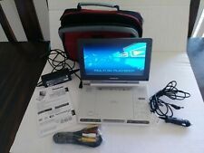 "Panasonic Portable DVD Player Package, LS91, 9"" Screen, Adapters, EUC"