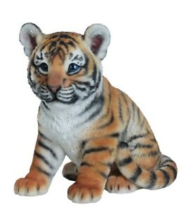 Vivid Arts Sitting Tiger Cub Highly Detailed Garden Decoration