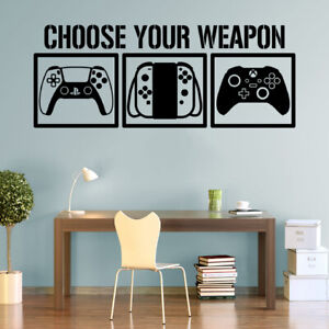 Choose Your Weapon Gamers Wall Sticker Gamers Decals PS5 Nintendo XBOX-Series