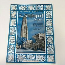 Whiffenpoof Song Vintage 1936 Sheet Music Yale University Minnigerode Pomeroy