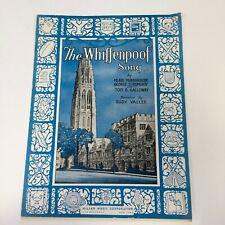 Whiffenpoof Song Vintage 1936 Sheet Music Yale University Minnigerode Pomeroy