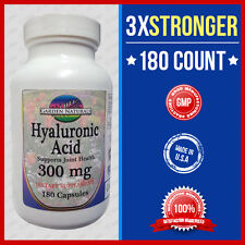 Triple Strength Hyaluronic Acid 300mg 180 Caps -Quality-Purity Made USA Facility