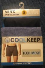 Men's COOLKEEP Size Small 4 Pairs Tech Mesh BOXER BRIEFS- KEEP COOL/STAY DRY