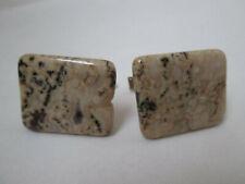 Vintage Cufflinks Cuff Links Brown Tan Precious Stone? Pat Pending UNIQUE