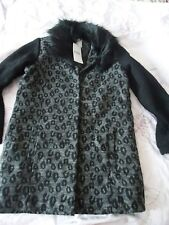 Marks & Spencer girls winter coat with wool faux fur collar 13-14Y NWT RRP £38