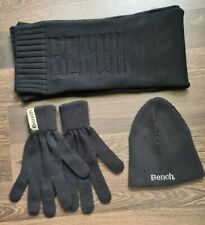 Bench Beanie Hat Scarf And Gloves Set Black One Size