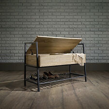 Sauder North Avenue Storage Bench with Lower Shelf for Shoe Storage