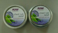 NOW Solutions Chest Rub Releif Soothing & Warming. 2-packs (2fl oz each) NEW!