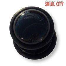 BLACK agate BLACK Gemstone Fakeplug-Fake piercing Stone plug orecchini a bottone agata