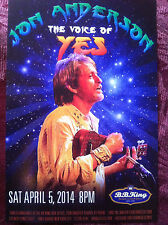 Jon Anderson of Yes ad/flyer B.B. King club 2014 club apperance the Winery Dogs
