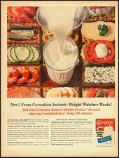 Vintage ad for Carnation Instant nonfat Dry Milk/Veggies in ad/milk (040313)