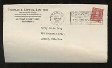 CANADA ADVERTISING 1936 ROYAL WINTER FAIR...LIPTON TEA ENVELOPE