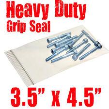 """Lot de 100, 3,5 """"x 4.5"""" heavy duty grip seal sacs de composant-indéchirable"""