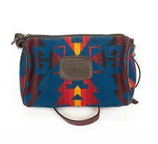 Pendleton Southwestern West Wool Leather Small Travel Crossbody Bag or Dopp Bag
