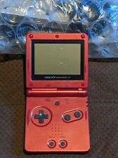 Nintendo Gameboy Advance SP Red Works - No Charger Incl