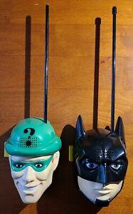 1995 Batman Forever Handheld Walkie Talkies w/ Sound Effects DC Comics Riddler