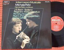 Michala Petri - Intermezzo Musicale Bach Paganini Handel Philips Dig LP NM-