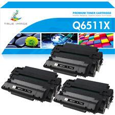3PK Q6511X 11X Black Toner Cartridge For HP LaserJet 2420 2420d 2420dn 2410 2400