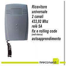 Ricevitore radio ricevente uiversale 2 canali 433 Mhz autoapprendimento