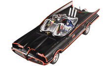 1:18 Hot Wheels Tv Série Batmobil 1966 Batmobile avec Batman & Robin Figurines