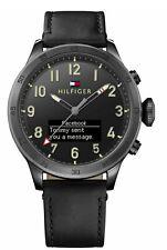 Reloj de Pulsera Tommy Hilfiger Para Hombre Cuarzo Reloj inteligente Negro Correa de Cuero 1791301