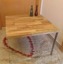 Couchtisch Wohnzimmertisch Edelstahl Kufen klein Holz modern Design DIY Buche